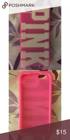 PINK iPhone 6 rubber case In perfect condition 😍😍😍 PINK Victoria's Secret Accessories Phone Cases
