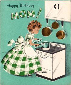 Vintage Card Mom Birthday CardsVintage CardsHappy