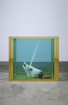 Damien Hirst, Broken Dream , Contemporary art plays with chimeras and the come back of taxidermy in the century. Damien Hirst, Photographie Street Art, John Rankin, Modern Art, Contemporary Art, Hirst Arts, 3d Fantasy, English Artists, Conceptual Art