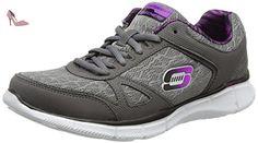 Skechers - Equalizer - Step Lively - Sneaker, femme, gris (ccpr), taille 38 - Chaussures skechers (*Partner-Link)