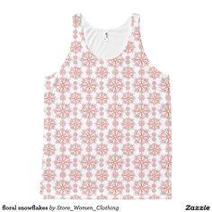floral snowflakes All-Over print tank top #floral #snowflakes All-Over #print #tank #top #girl #girly #woman #women #fashion #kid #children #vogue #new #star