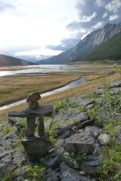 I made this Inukshuk with my cousin and uncle on a trip to the Canadian Rockies