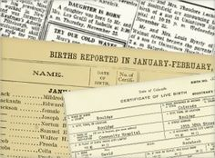 Birth Certificates and 27 Other Places to Look for Birth Data  When you explore your genealogy, one of the first things you need to know about a person is the birth date. The birthplace helps too, of course. There are many places to find this information, and most of them have additional useful data. We'll look at some of the possibilities here.