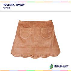 Pollera Twigy de Drôle. #Moda #Folk #Niñas Para ver talles y comprar ¡Hacé click en la imagen!
