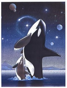 Orcas in the sky. Can I have a poster of this please??