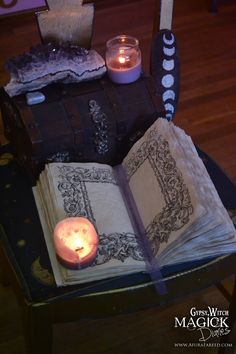 """The Witching Moon"" handcrafted #book of #shadows by Gypsy-Witch Magick Diaries"