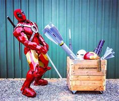 "CAPTION THIS!    #captionthisphoto example: "" If I'd known it would be this hard to steal Starks $#!t I wouldn't have bothered!""     YO please be sure to check out the super lovely  @dadpoolcosplay     #deapool #deadpoolcosplay #ironman #deadpool2#ironmancosplay #ironpool #wadewilson #tonystark #mashup #marvel #cosplay #marvelcosplay #sexycosplay #curves #instacool #bandainamco #fight #ozcomicconperth #ozcon #supanova    Repost from our fam @cosplayway"