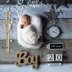 Newborn Session with Stats | Birth Announcement | Newborn Stat Photo for boy | Newborn Boy