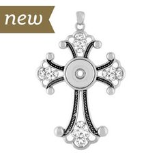 Check out the new Magnolia and Vine  Crystal Cross Pendant.  Holds 18mm Original Snaps. This piece is one of my favorites!