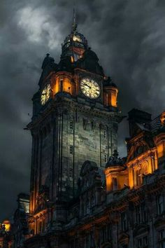 """Time past and time present are both perhaps cointained in time future, and time future contaioned in time past"" T.S. Elliot. (One of my favorite quotes that I have known by heart since I was a teenager.) Edinburgh, Scotland clock tower. ~ETS"