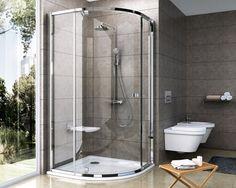 Sprchový kout Pivot čtvrtkruh 100 cm Locker Storage, Toilet, Bathtub, Minimalist, House Design, Bright, Satin, Bathroom, Architecture