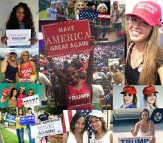 DEPLORABLE WOMEN FOR TRUMP! GOD BLESS AMERICA!!! ~@guntotingkafir