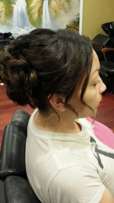 My first client from pinterest. Updo.