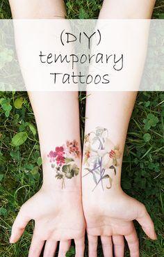 Temporäre DIY Tattoos - Temporary DIY Tattoos- Tutorial in English and German