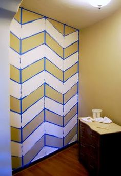 Chevron Wall diy, or chevron anything, really...