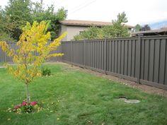 gray fence | Trex Winchester Grey Trex Fencing, Composite Fencing, Fence Prices, Low Maintenance Backyard, Grey Fences, Patio Fence, Outdoor Spaces, Outdoor Decor, Wood Vinyl