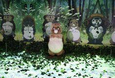 Heisei Tanuki Gassen Ponpoko / Pompoko SCULPTURE in Studio Ghibli Theme Park