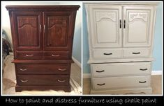 How to Paint and Distress Furniture using Chalk Paint