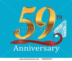 59th golden anniversary logo with white indonesia shadow puppet ornament