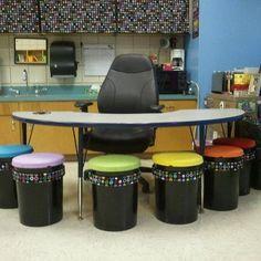 5 gallow bucket ideas   My 5-gallon bucket seats :) great for a day care ...   Classroom Idea ...