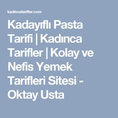 Kadayıflı Pasta Tarifi | Kadınca Tarifler | Kolay ve Nefis Yemek Tarifleri Sitesi - Oktay Usta Turkish Salad, Turkish Tea, Diet Recipes, Cooking Recipes, Tea Time Snacks, Mini Cheesecakes, Breakfast Items, Turkish Recipes, Dessert