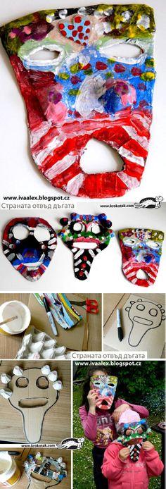 African masks from paper (papier-mache)