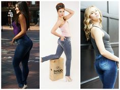 IVIDO BRAND JEANS specializes in unique, latin-inspired push-up jeans to suit the most diverse female styles, bodies and tastes. Only Jeans, Jeans Brands, Push Up, Capri Pants, Friday, Suits, Female, Celebrities, Unique