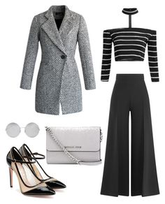 """""""Untitled #471"""" by rubysparks90 on Polyvore featuring Victoria Beckham, Valentino, Chicwish, Salvatore Ferragamo and MICHAEL Michael Kors"""