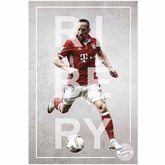 FC Bayern München Poster Franck Ribery