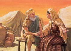 Sara parlant avec Abraham