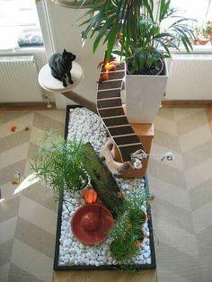 Ideia de área de lazer para gatos