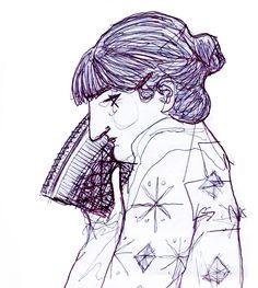 Fan. Drawing by Consti