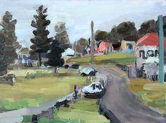 John Bokor. Beachfront Bulli oil on canvas