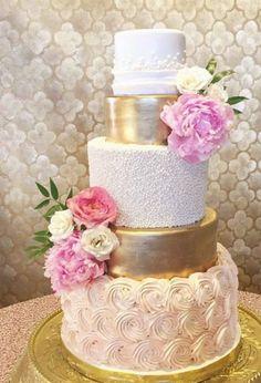 Wedding cake idea; Featured Cake: Layered Bake Shop
