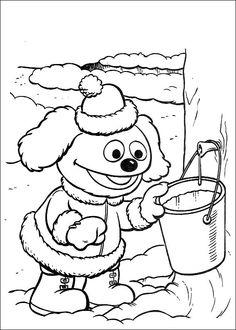 Desenhos para pintar Muppets 41