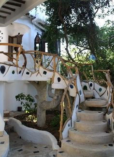 cob outdoor staircase