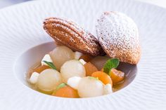 Melon Soup Recipe with Honey Madeleines - Great British Chefs