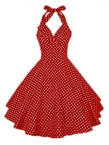 Afbeeldingsresultaten voor halter dress pin up clothing