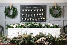 diy christmas countdown, chalkboard paint, christmas decorations, crafts, how to, seasonal holiday decor