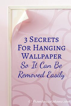 3 Secrets For Hanging Wallpaper So It Can Be Removed Easily Like The Look Of Wallpaper But Afraid It Will Damage Your Walls Or Only Want It As A Temporary Wall Covering? Snap Here To Find Out The Secrets For Hanging Wallpaper So It Can Be Removed Easily. How To Hang Wallpaper, Diy Wallpaper, Wallpaper Panels, Hanging Wallpaper, Wallpaper Ceiling, Temporary Wallpaper, Ceiling Decor, Diy Wall Decor, Temporary Wall Covering
