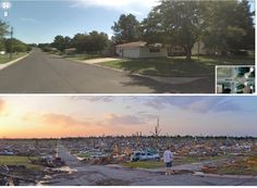 The 45 Most Powerful Images Of 2011:   A before and after shot of Joplin, Missouri after a massive tornado on May 22.