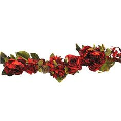 You'll love this beautiful flower and greenery garland! Garland includes roses, peonies, hydrangeas and dahlias. Width of garland is variable depending upon arrangement of branches.