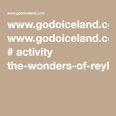 www.godoiceland.com # activity the-wonders-of-reykjanes-blue-lagoon