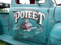 rat rod trucks and cars Truck Lettering, Vintage Lettering, Pinstriping, Vintage Trucks, Old Trucks, Dodge Trucks, Door Signage, Volvo, Door Letters