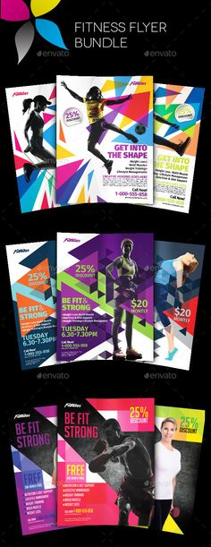 Fitness Class Flyer Template Flyer template and Marketing flyers - fitness flyer