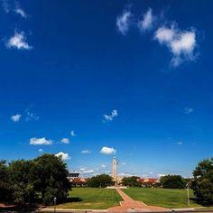 The Parade Ground under a brilliantly blue sky.
