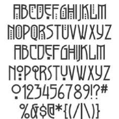 Art deco font                                                                                                                                                                                 More