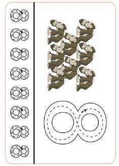 Actividades para imprimir Practica la escritura de los números. http://www.pequescuela.com/actividades-preescolar-imprimir-grafomotricidad-numeros42.html