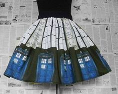 Whovian, Geek Girl,TIme Machine Cosplay, Dr Who Inspired Cosplay, Full Skirt, ALL SIZES, RoOBY LaNE, UNiQUE