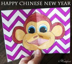 Hattifant - Chinese New Year 2016 - Monkey Pop Up Card